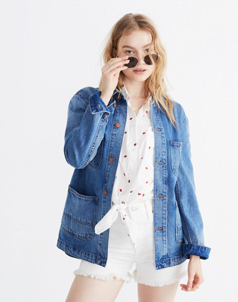 Strawberry Embroidered Workwear Jacket
