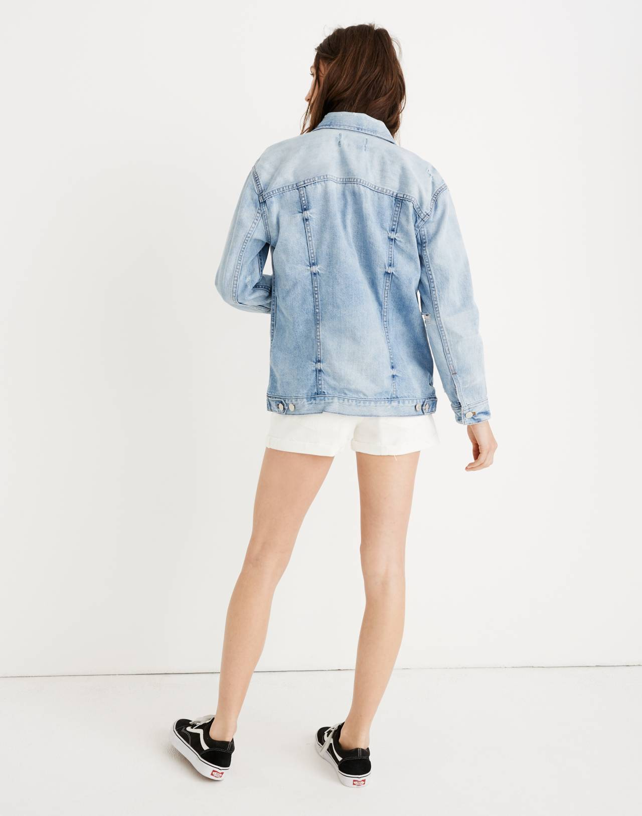 The Oversized Jean Jacket in Junction Wash: Distressed Edition in junction wash image 2