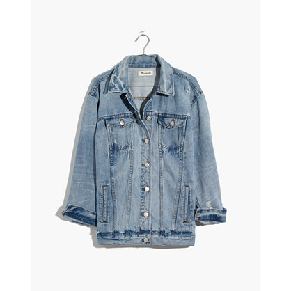 The Oversized Jean Jacket In Junction Wash: Distressed Edition by Madewell
