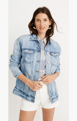 The Oversized Jean Jacket in Junction Wash