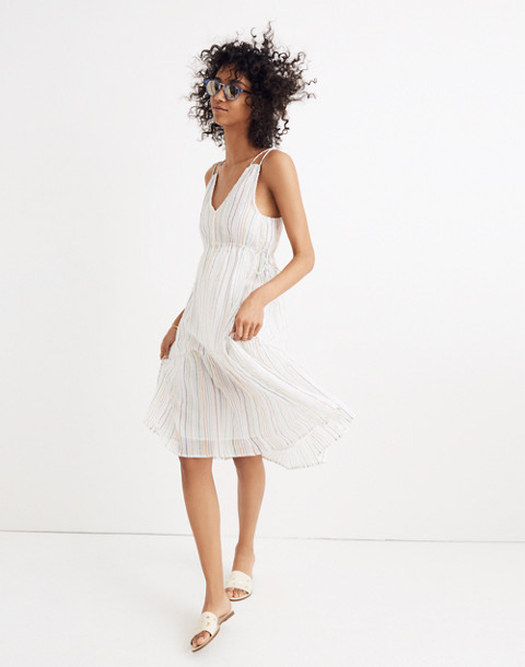 Apiece Apart™ Striped Daphne Midi Dress in white fez stripe image 2