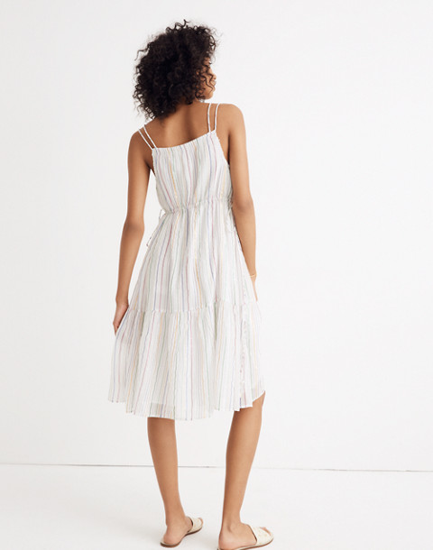 Apiece Apart™ Striped Daphne Midi Dress in white fez stripe image 3