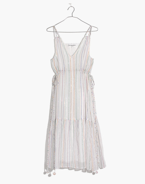 Apiece Apart™ Striped Daphne Midi Dress in white fez stripe image 4