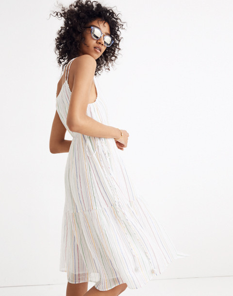 Apiece Apart™ Striped Daphne Midi Dress in white fez stripe image 1