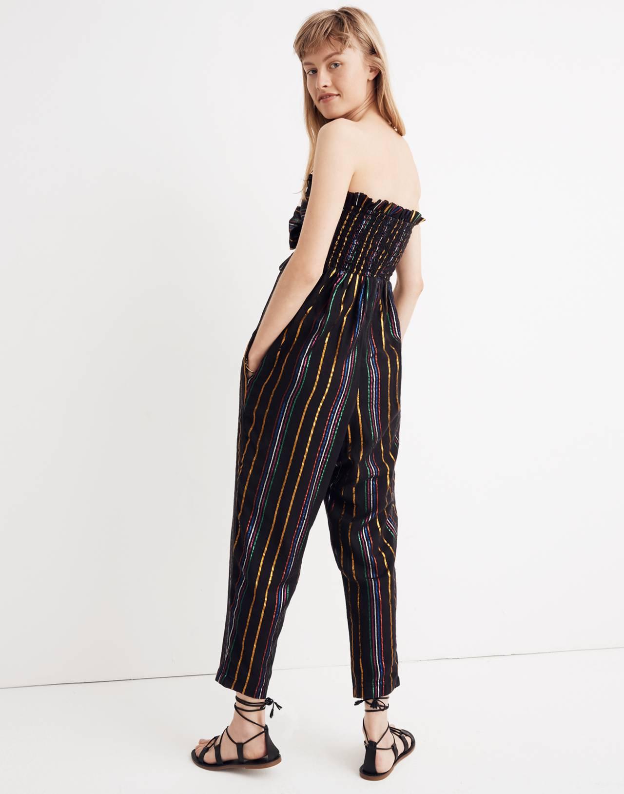 Apiece Apart™ Striped Zaza Gipsea Jumpsuit in black fez stripe image 3