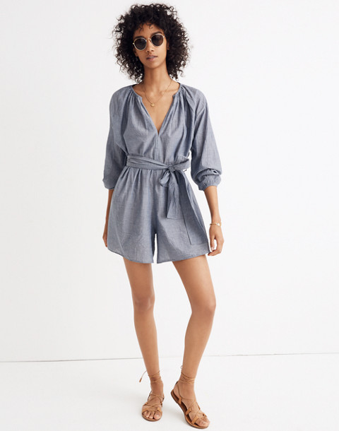 Apiece Apart™ Chambray Isla Romper in chambray image 1