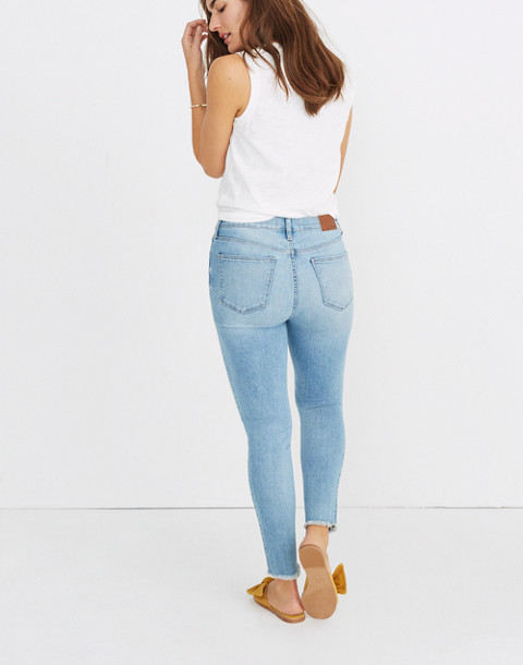 "9"" High-Rise Skinny Crop Jeans: Button-Front Edition"