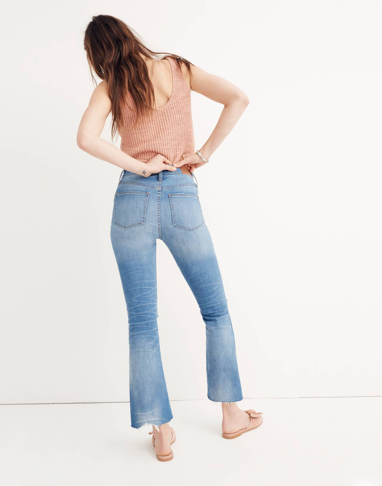 Petite Cali Demi-Boot Jeans in Bronson Wash: Button-Front Edition in bronson wash image 3
