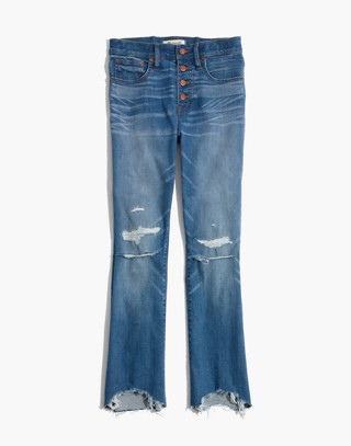 Cali Demi-Boot Jeans in Bronson Wash: Button-Front Edition
