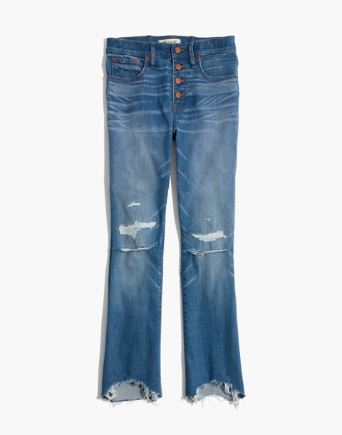 Petite Cali Demi-Boot Jeans in Bronson Wash: Button-Front Edition in bronson wash image 4