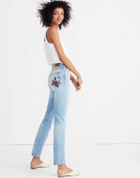 790619489fd4 The Tall Perfect Summer Jean  Strawberry Embroidered Edition in dolores  wash image 2