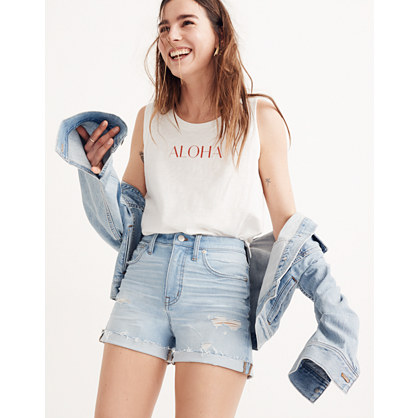d11ddddaa Shoptagr | High Rise Denim Shorts In Posey Wash by Madewell