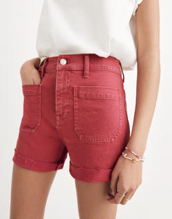 High-Rise Denim Shorts: Garment-Dyed Edition