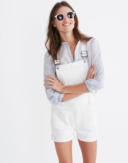 Adirondack Short Overalls in Tile White