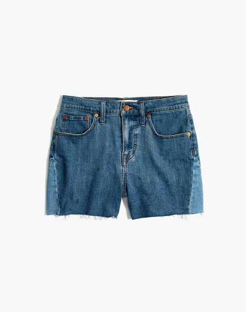 High-Rise Denim Shorts: Pieced Edition in wylie wash image 4