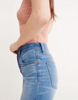 Petite Cali Demi-Boot Jeans in Bronson Wash: Button-Front Edition