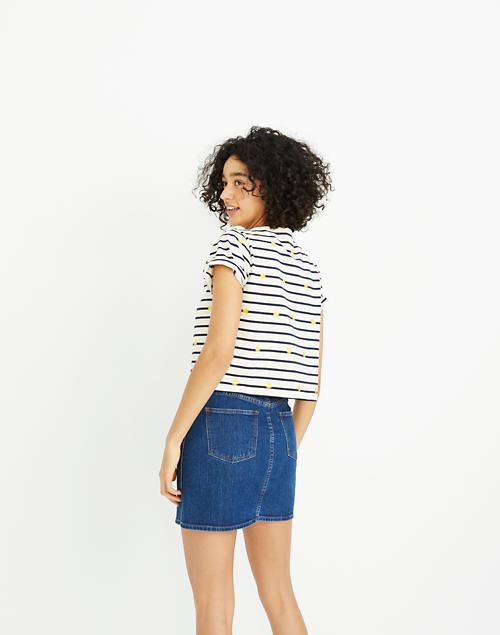 1963da9ba0 Stretch Denim Straight Mini Skirt in Arroyo Wash  Button-Front Edition