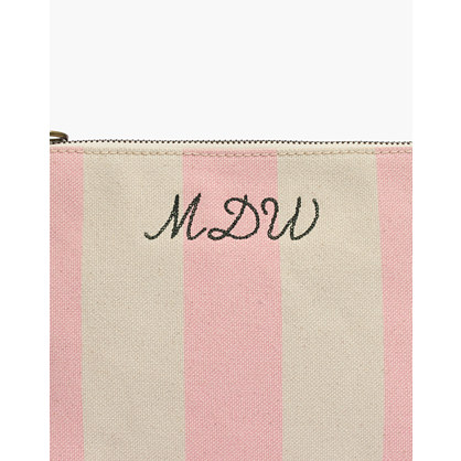 The Canvas Pouch Clutch In Stripe by Madewell