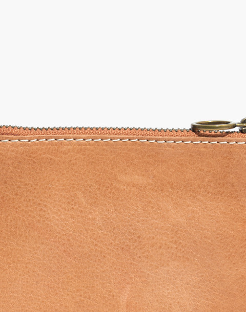 The Leather Pouch Wallet: Sun Embroidered Edition in burnished caramel image 3