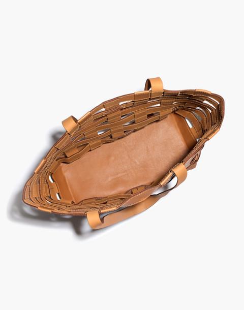 The Medium Transport Tote: Basketweave Edition in desert camel image 3