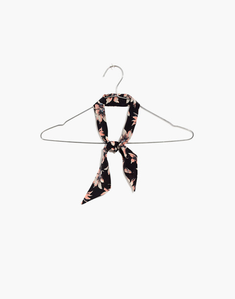 Silk Skinny Bandana in true black multi image 1