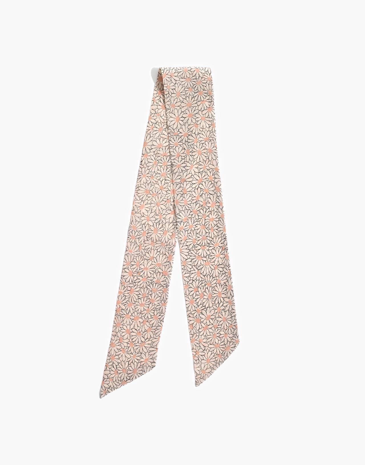 Silk Skinny Bandana in antique lace multi image 2