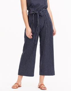 J.Crew Point Sur Paper-Bag Pants in Stripe