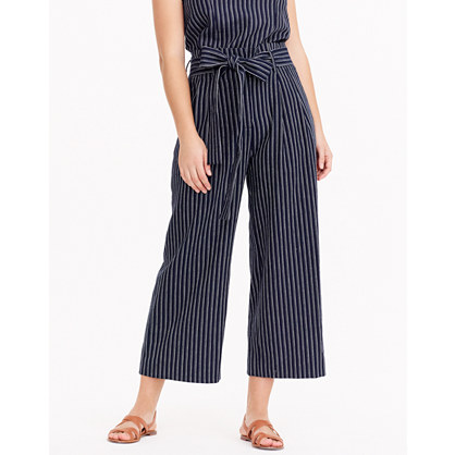 J.Crew Point Sur Paper Bag Pants In Stripe by Madewell