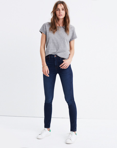 """Petite 10"""" High-Rise Skinny Jeans in Hayes Wash"""