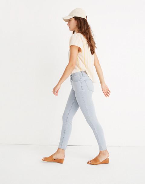 """10"""" High-Rise Crop Jeans in Piper Stripe in piper stripe image 2"""