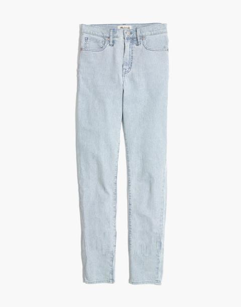 """10"""" High-Rise Crop Jeans in Piper Stripe in piper stripe image 4"""
