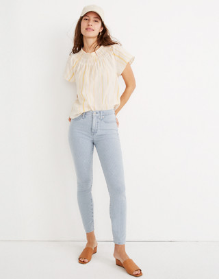 "10"" High-Rise Crop Jeans in Piper Stripe"