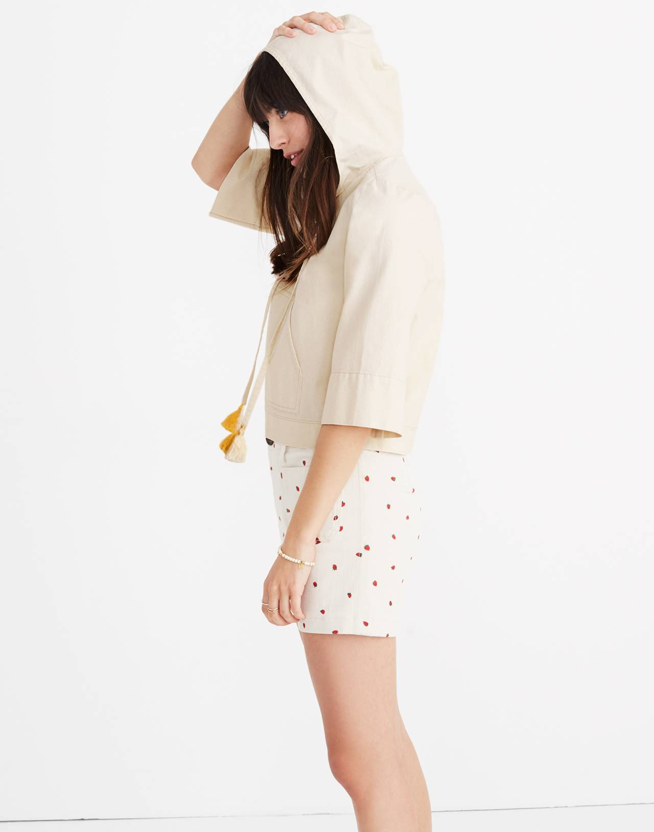 Hooded Popover Shirt in canvas image 2