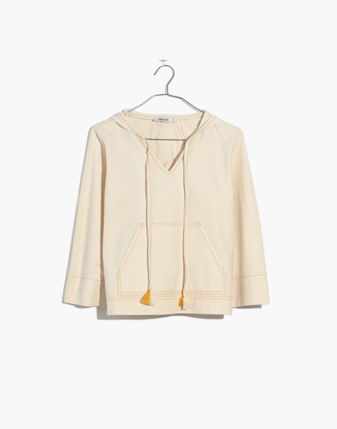 Hooded Popover Shirt in canvas image 4