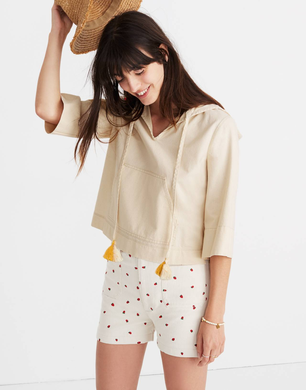 Hooded Popover Shirt in canvas image 1