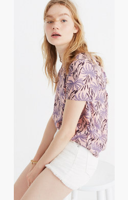 Tie-Back Cutout Top in Oasis Palms