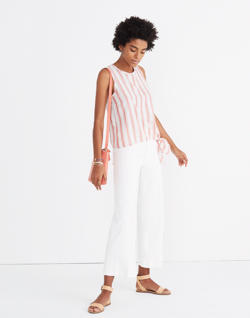 Side-Tie Tank in Marcia Stripe