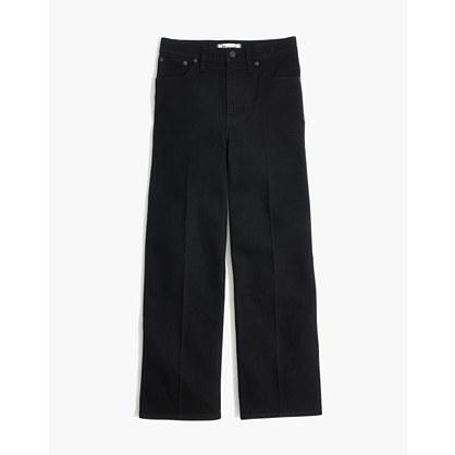 Tall Wide-Leg Crop Jeans in Black Frost