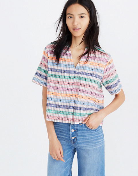 Ace&Jig™ Striped Quinn Top in swell image 1