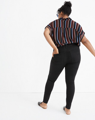 Petite Curvy High-Rise Skinny Jeans in Carbondale Wash in carbondale wash image 3