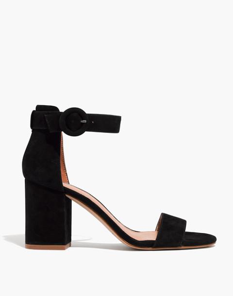 The Regina Ankle-Strap Sandal in true black image 2