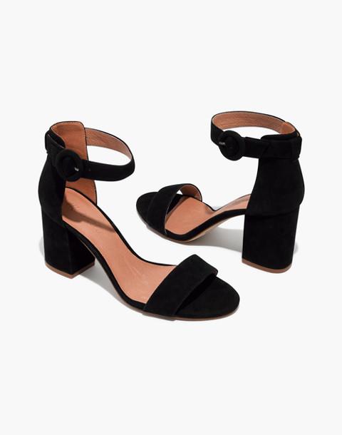 The Regina Ankle-Strap Sandal in true black image 1