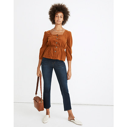 Short Cali Demi-Boot Jeans in Larkspur Wash: Tencel® Edition