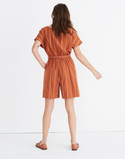 Ace&Jig™ Striped Weekend Romper in cognac image 3