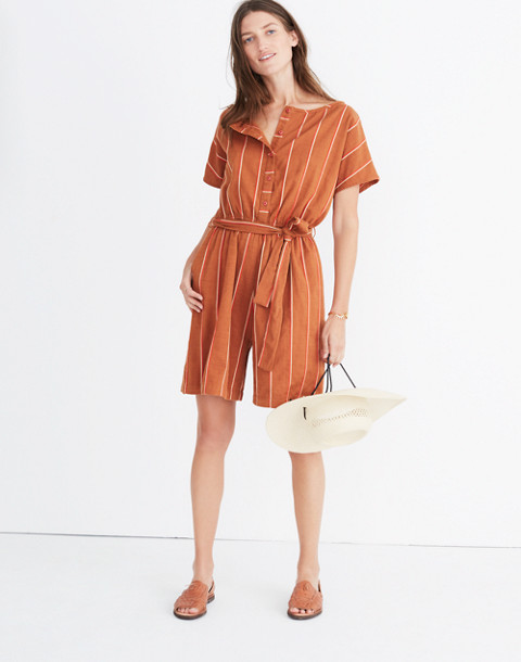 Ace&Jig™ Striped Weekend Romper in cognac image 1