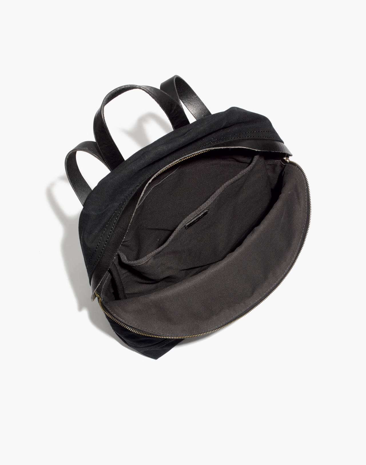 The Charleston Backpack in true black image 2