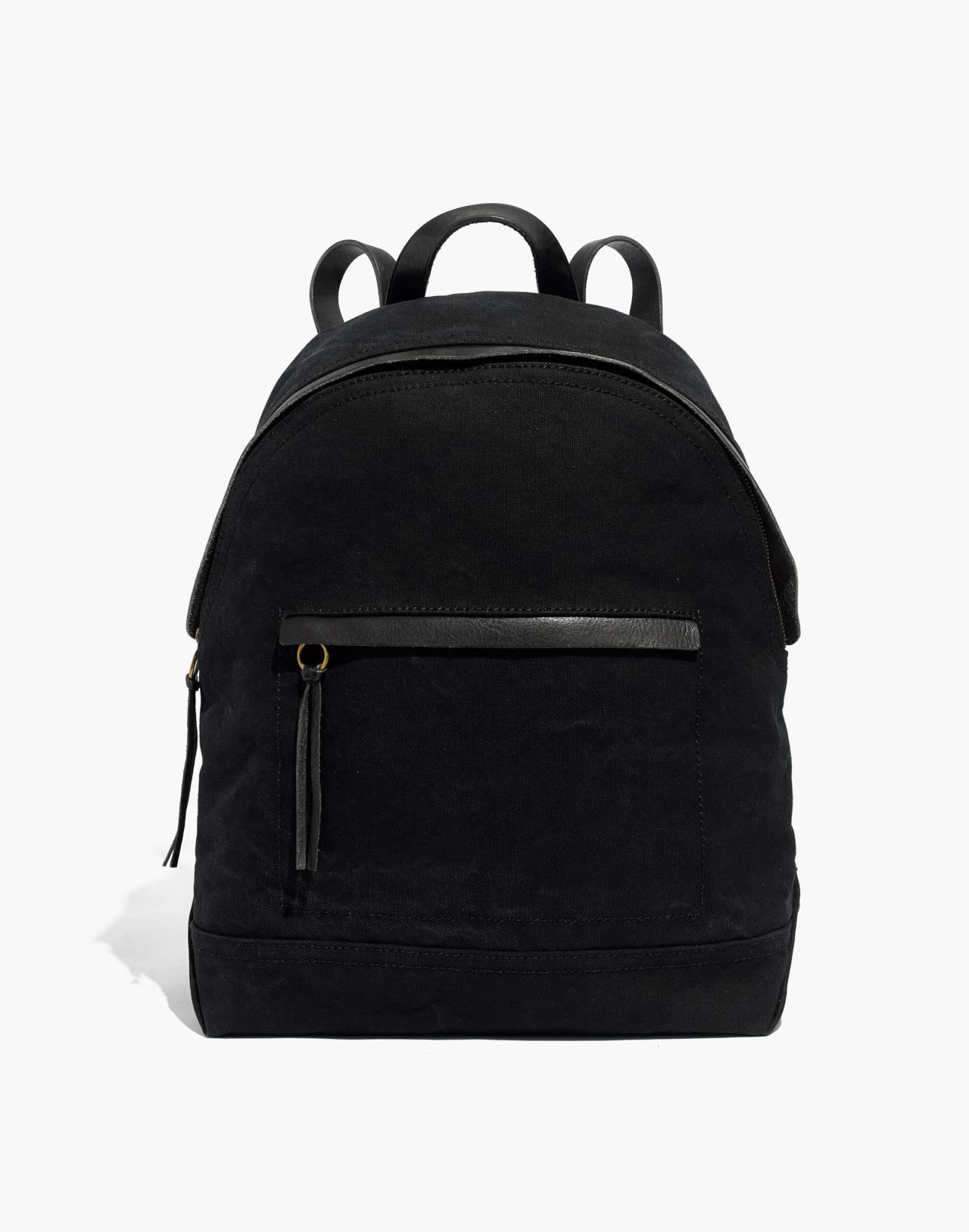 The Charleston Backpack in true black image 1