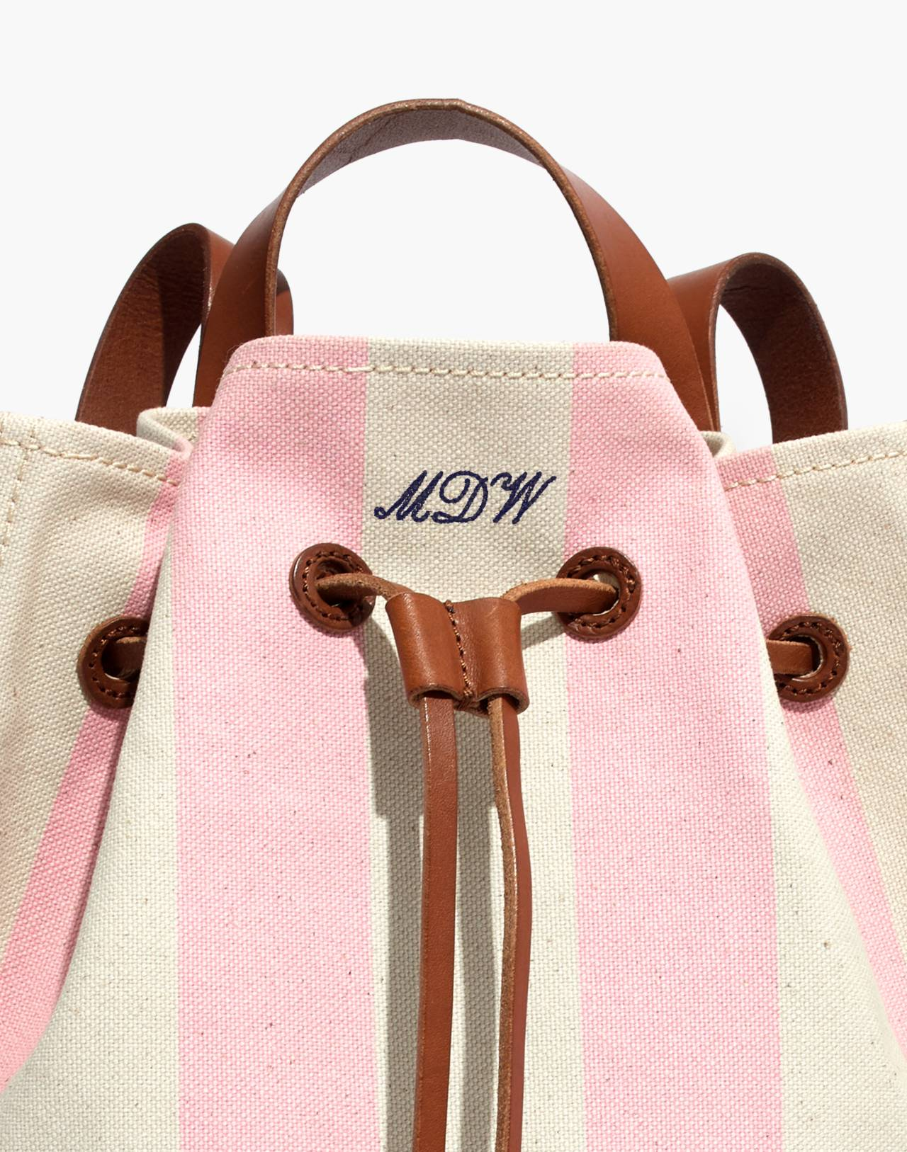 The Canvas Somerset Backpack in Stripe in petal pink stripe image 3