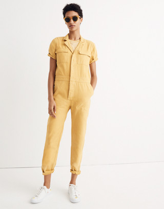 Short-Sleeve Coverall Jumpsuit
