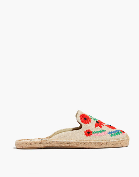 Soludos® Embroidered Ibiza Mules in sand multi image 3